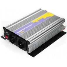 Инвертор (преобразователь питания 12->220В) от аккум. авто 1200Вт(KS-052)